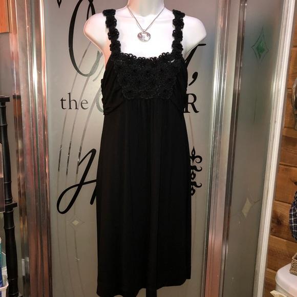 Elle Dresses & Skirts - Elle designer sexy dress chest is sheer mesh roses